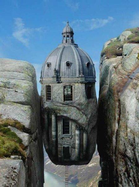 kuća između stijena
