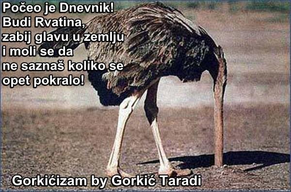 Počeo je Dnevnik! Budi Rvatina,  zabij glavu u zemlju i moli se da  ne saznaš koliko se opet pokralo!