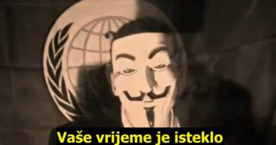 Pozdrav svim građanima Republike Hrvatske. Mi smo Anonymous.
