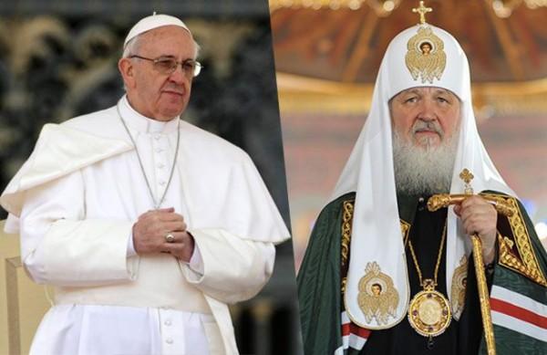papa Franjo i ruski patrijarh Kiril