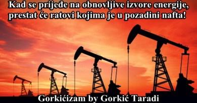 Kad se prijeđe na obnovljive izvore energije, prestat će ratovi kojima je u pozadini nafta!