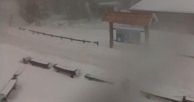 Snijeg na Sljemenu