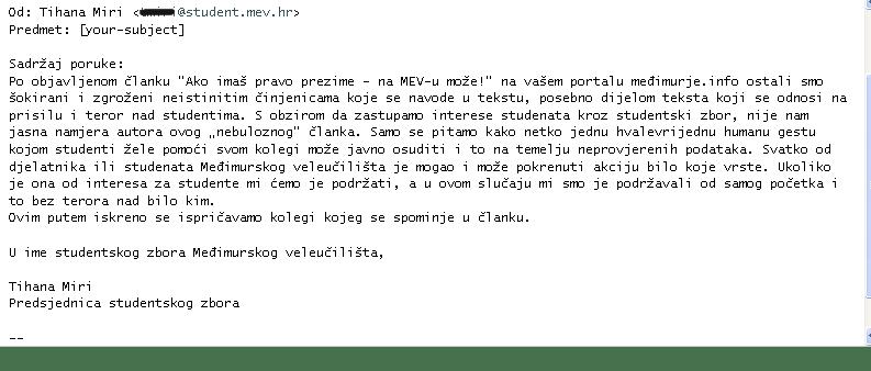 odgovor MEV
