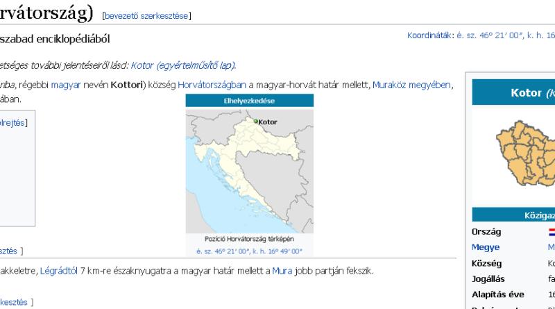 Kotoriba - hrvatska općina koja izgleda nije u Republici Hrvatskoj