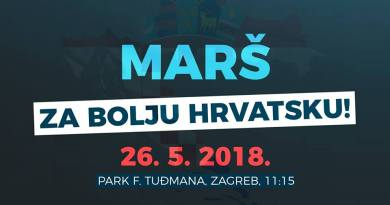Marš za bolju Hrvatsku 2018.