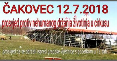 Prosvjed protiv nehumanog držanja životinja u cirkusu