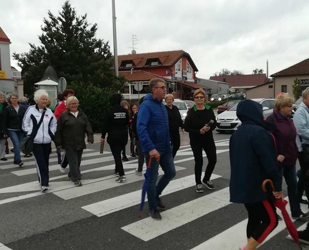 Dražen Srpak u protestnoj šetnji zbog tranzitnog prometa kroz Mursko Središće