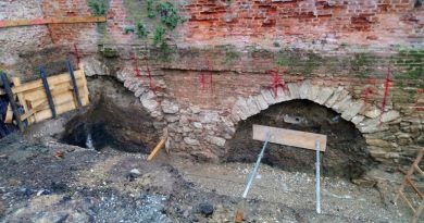 arheološki nalazi otkriveni prilikom zemljanih radova na obnovi utvrde