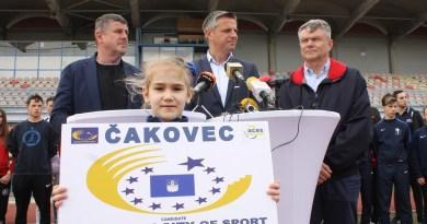Čakovec proglašen Europskim gradom sporta 2020. godine
