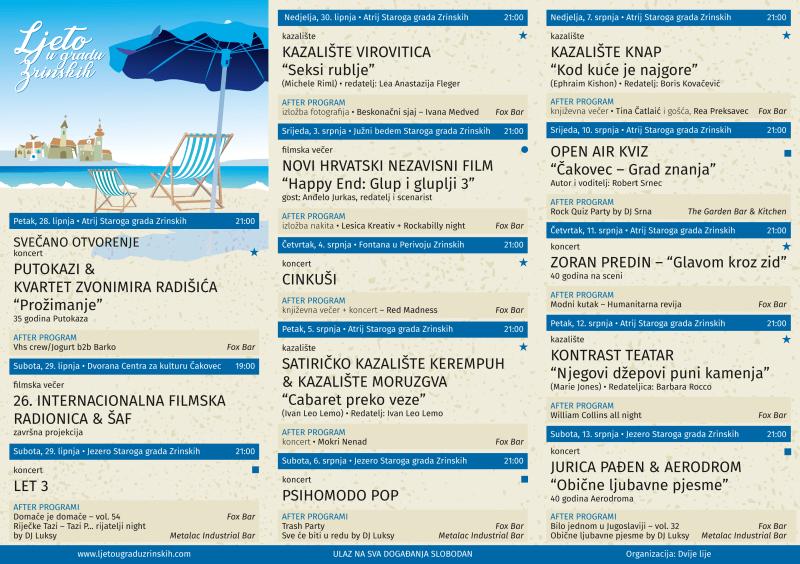 Ljeto u Gradu Zrinskih - detaljan program