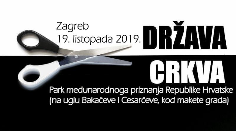 Pokret za sekularnu Hrvatsku: Raskid! 7 - Prosvjedni skup