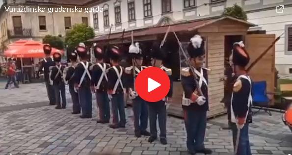 VIDEO: Varaždinska garda se malo izgubila u prostoru i vremenu