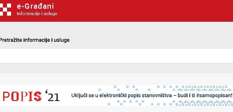 Počeo popis stanovništva preko sustava e-Građani