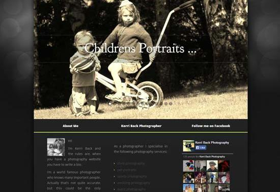 New website for Kerri Back Photography