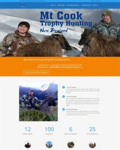 Mt Cook Trophy Hunting website screenshot