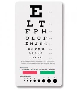 Snellen Pocket Eye Chart 3909 by Prestige Medical