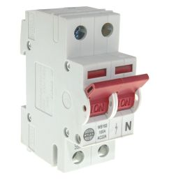 image of wylex ws102 main switch isolator 100a dp 2 module [ 1000 x 1000 Pixel ]