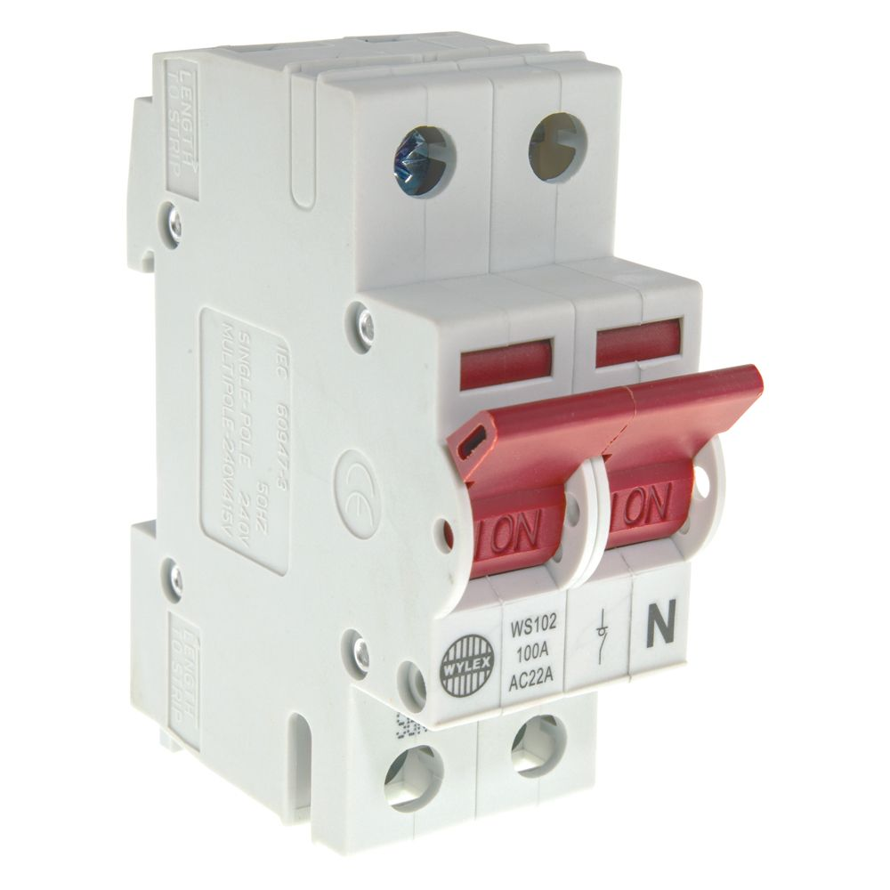 hight resolution of image of wylex ws102 main switch isolator 100a dp 2 module
