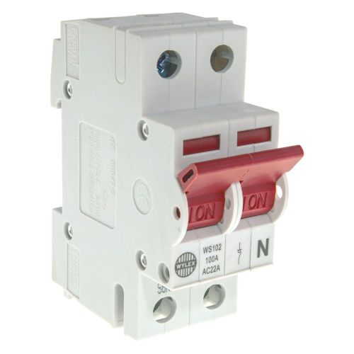 small resolution of image of wylex ws102 main switch isolator 100a dp 2 module