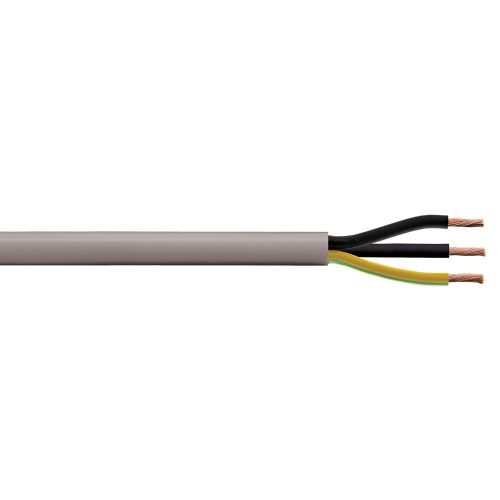 small resolution of image of 2 5mm 24a yy 3 core unscreened flexible control cable grey 1m cut length