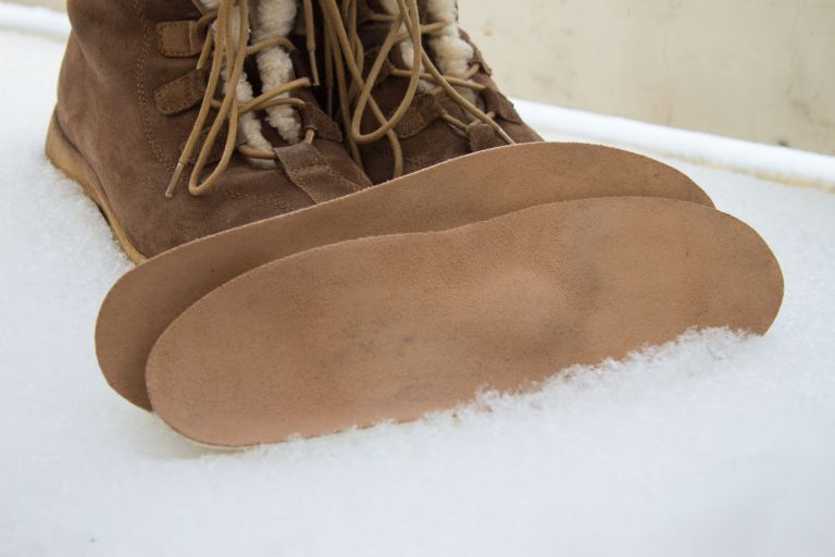 Warm brown shoes