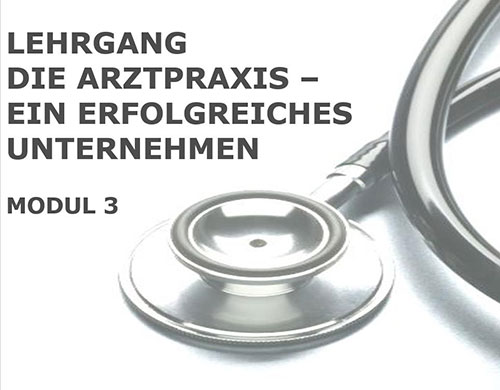 Vortrag Marketing Arztpraxis Ordination Ärztekammer Medmentor