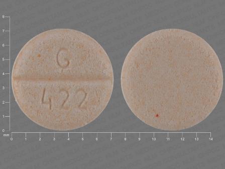 Round White Pill Gc 422 - MedsChat