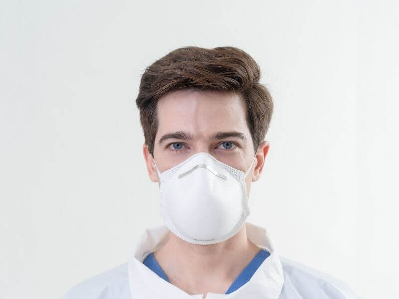 N95 Face-mask Respirator Full View