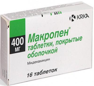 Макропен для лечения полипов в носу