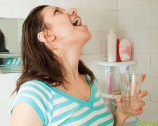 промывание горла