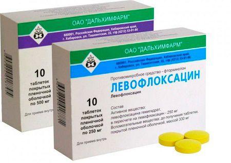 Препарат левофлоксацин для лечения обструктивного бронхита