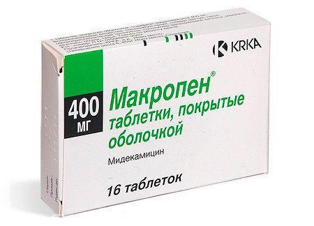 Препарат макропен для лечения бактериального бронхита