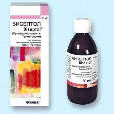 лечение бронхита с бисептол суспензия