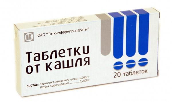 таблетки от кашля с термопсисом при беременности