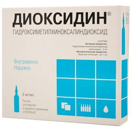 Препарат диоксидин для ингаляций при бронхите