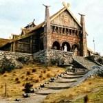 """""""Golden Hall"""", Meduseld i Peter Jacksons filmatisering av Sagan om ringen"""