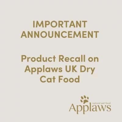 Varning! Kattfoder från en fabrik i Storbritanninen sammankopplas med flera hundra dödsfall av katter. Gäller bl.a. Applaws torrfoder!