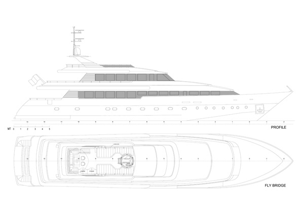 Crewed motor yacht charters in Greece. Private yacht