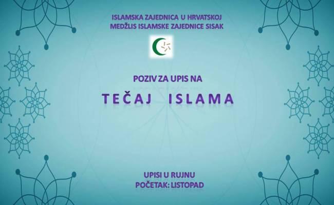 Poziv za upis na tečaj islama