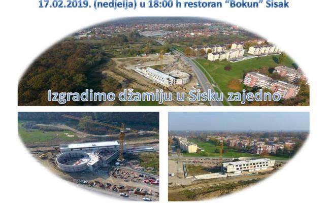 Poziv na 6. Donatorsku večer za izgradnju džamije i IKC-a Sisak