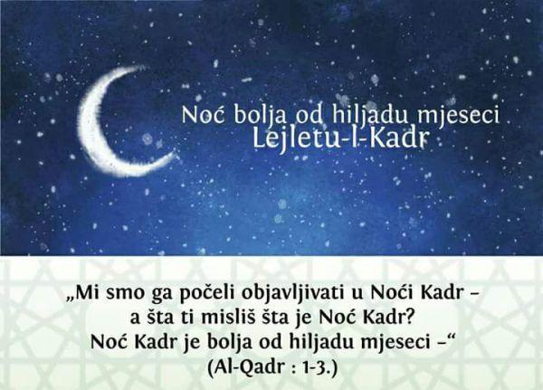 Program obilježavanja 27. noći Ramazana/Lejletu-l-Kadr
