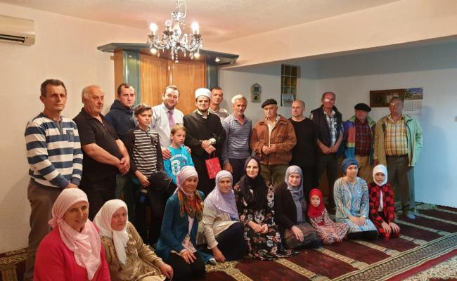 Ramazanska posjeta izaslanika Muftije džematu Maljevac