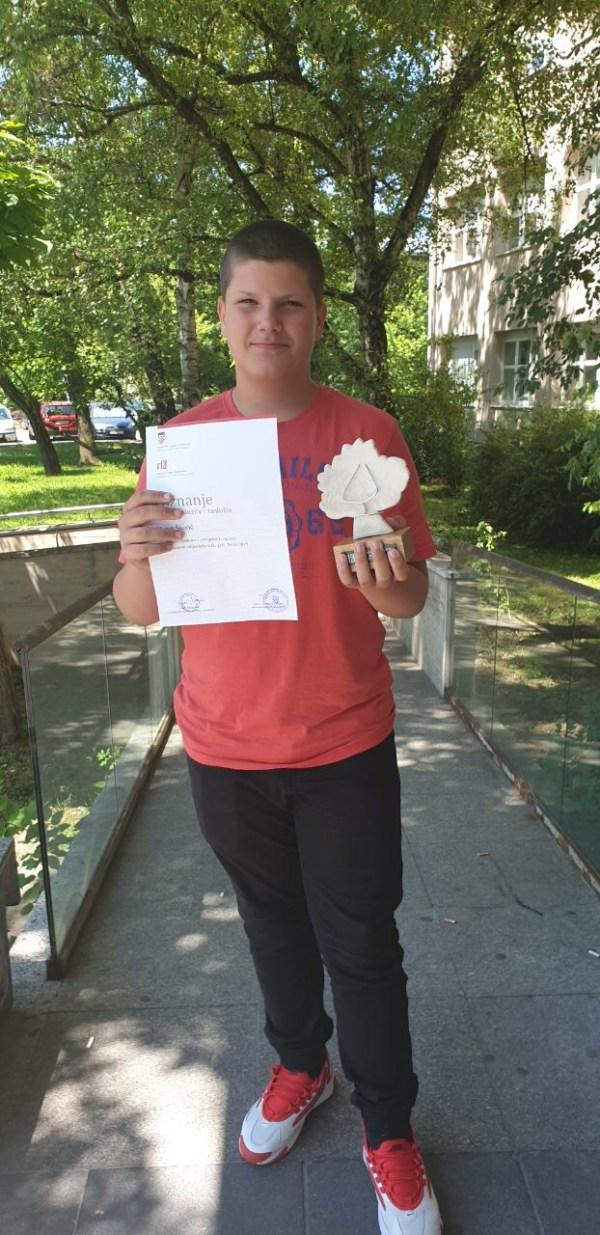 Harun Škorić iz Siska dobitnik Oskara znanja