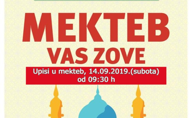 """MEKTEB VAS ZOVE"" Početak mekteba, 14.09.2019.(subota)"
