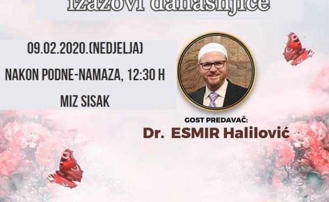 """Poziv na predavanje """"Potraga za srećom i izazovi današnjice"""" dr.Esmira Halilovića"""