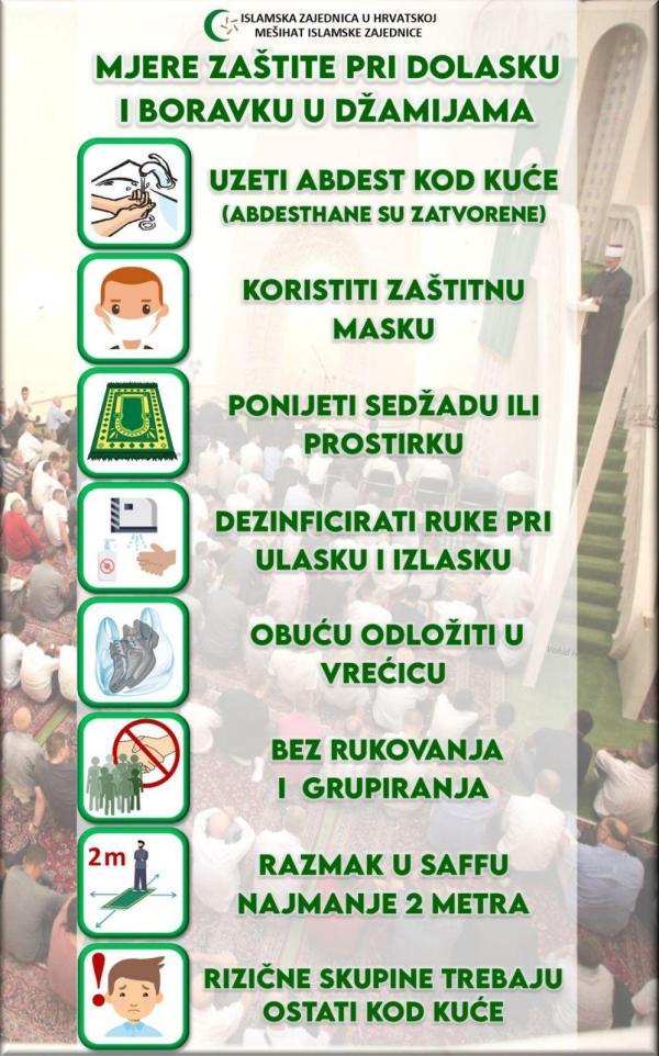 Od petka (08.05.2020.) obavljaju se džume-namazi i teravih-namaz