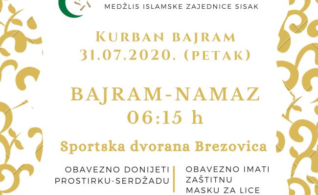 Kurban-bajram u petak, 31.07.2020