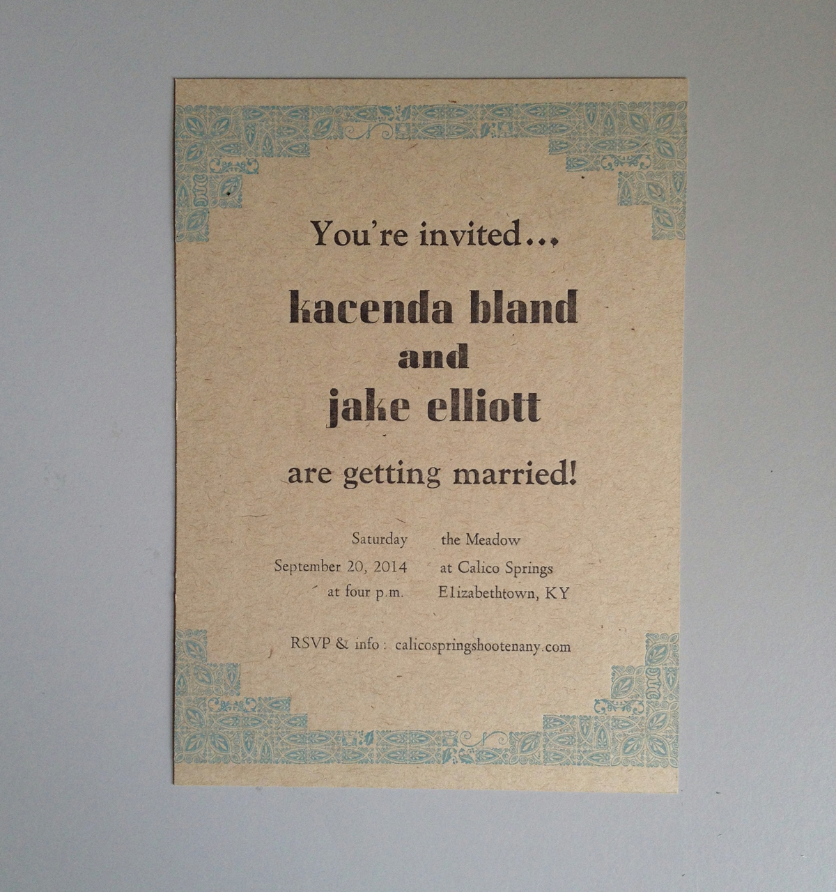 Jake & Kacenda – wedding invites & save-the-dates