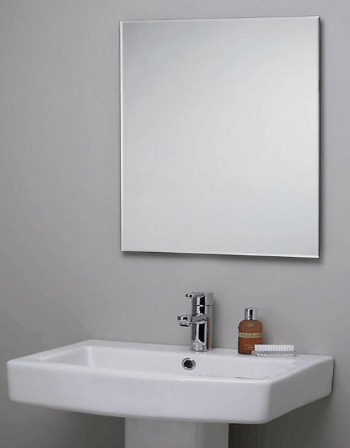 MPEMBE Frameless Mirror  Meek Mirrors  Beveled Edge Mirror