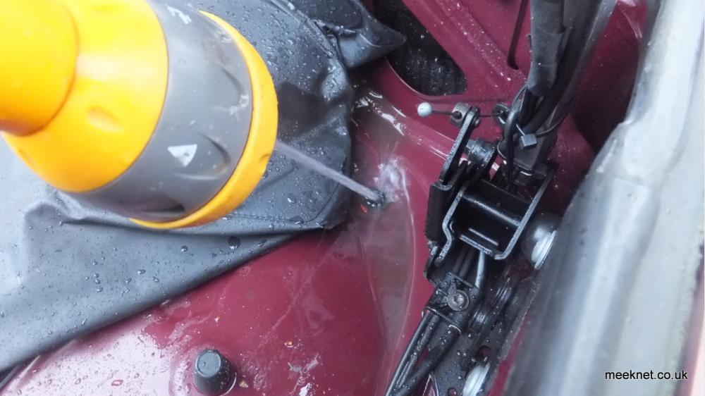 medium resolution of  with water appearing in front of the rear wheel